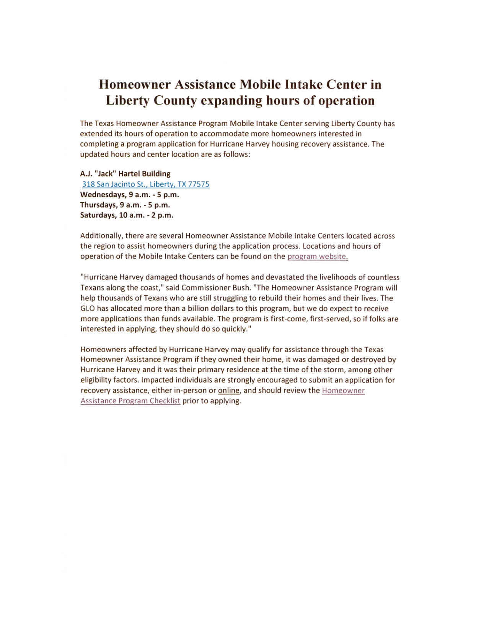 Homeowner Assistance Hurricane Harvey Jan 2019-1