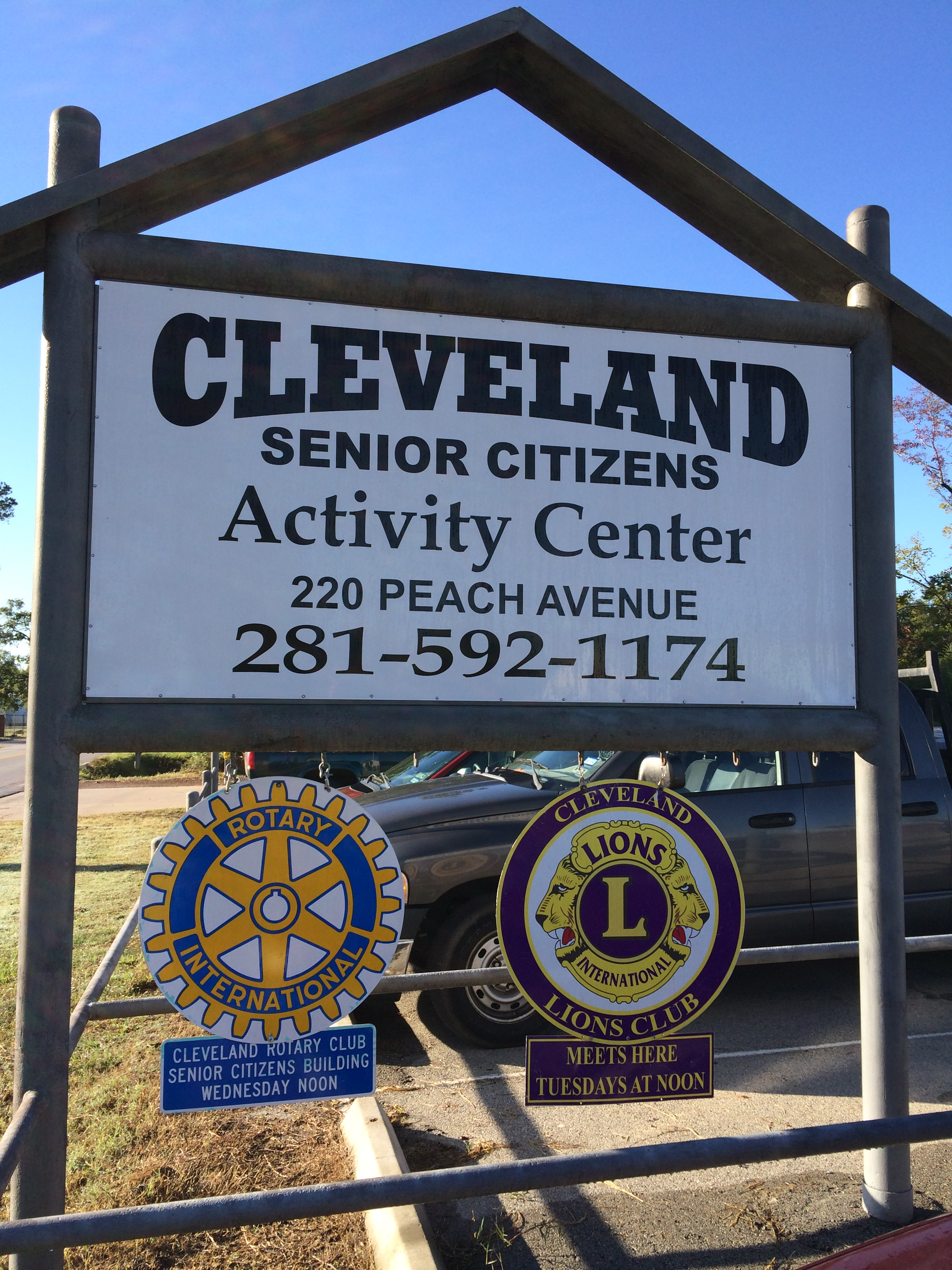 Cleveland Senior Citizen Activity Center Sign