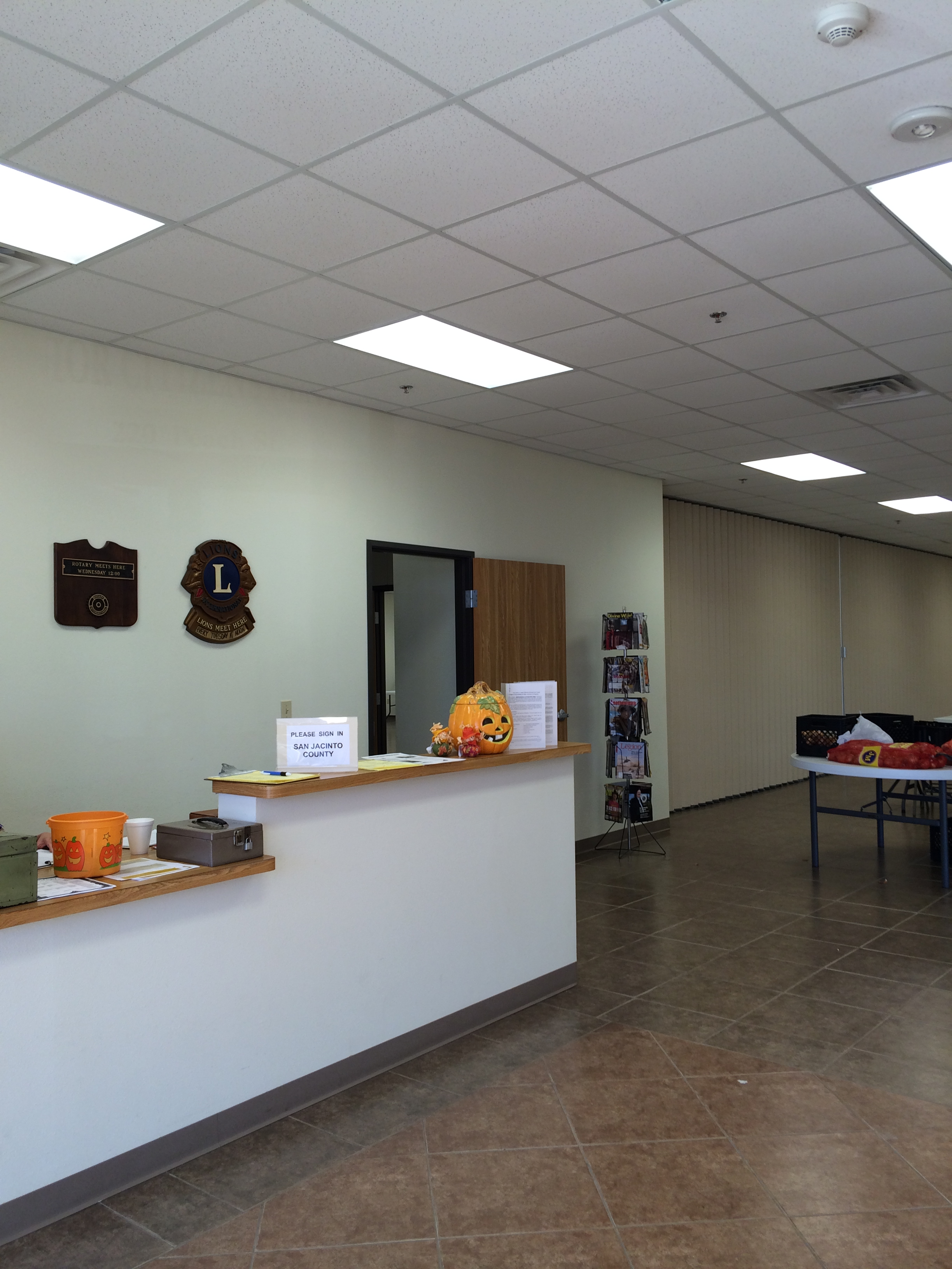 Inside the Senior Citizen Activity Center